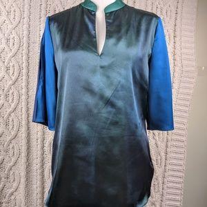 Tahari Color Block Blouse S